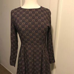 Long sleeve A-line dress
